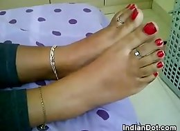 Indian Teen Gives A Foot Job Point Of View