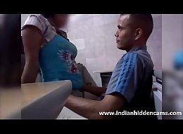 Indian men fucking his sexy hot desi amateur gf secretly in workplace